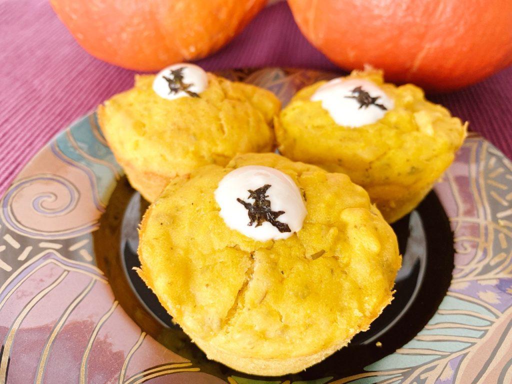 Halloween pompoenmuffins