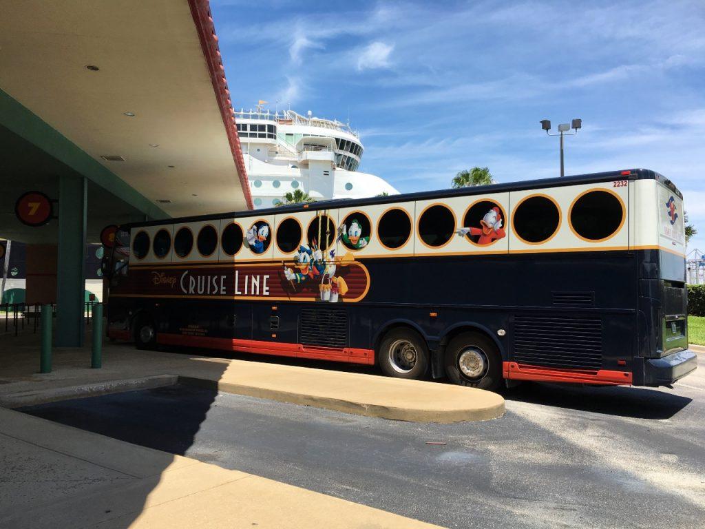 Port Canaveral Disney transport bus