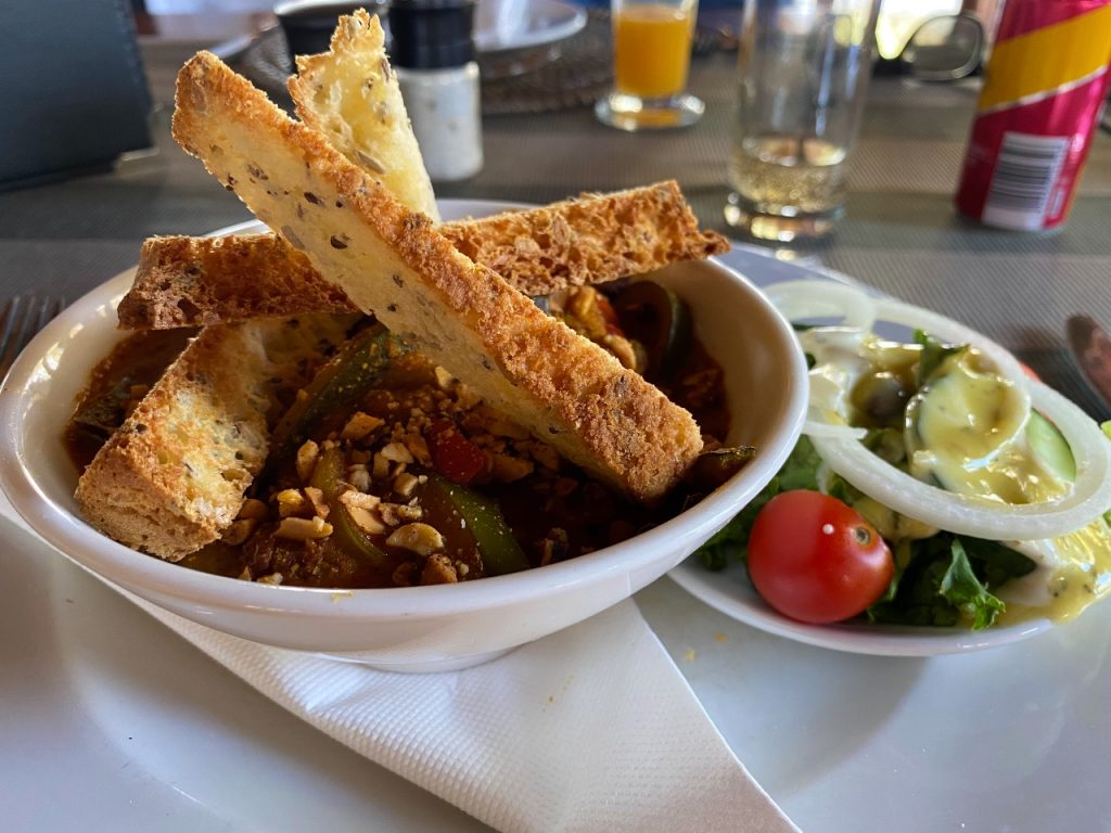 buffelsdrift game lodge restaurant vegan maaltijd