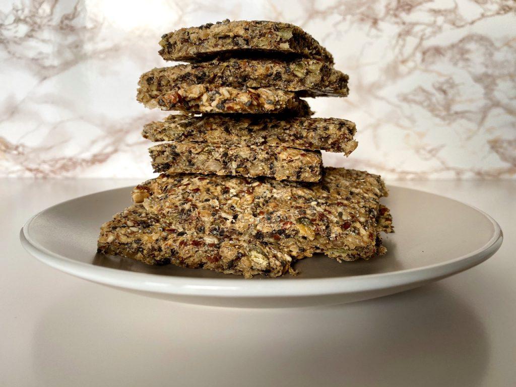 gezonde crackers met zaden en pitten