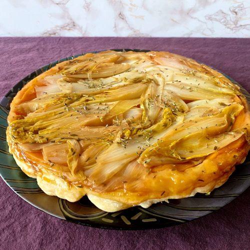 tarte tatin van witloof en zoete aardappel