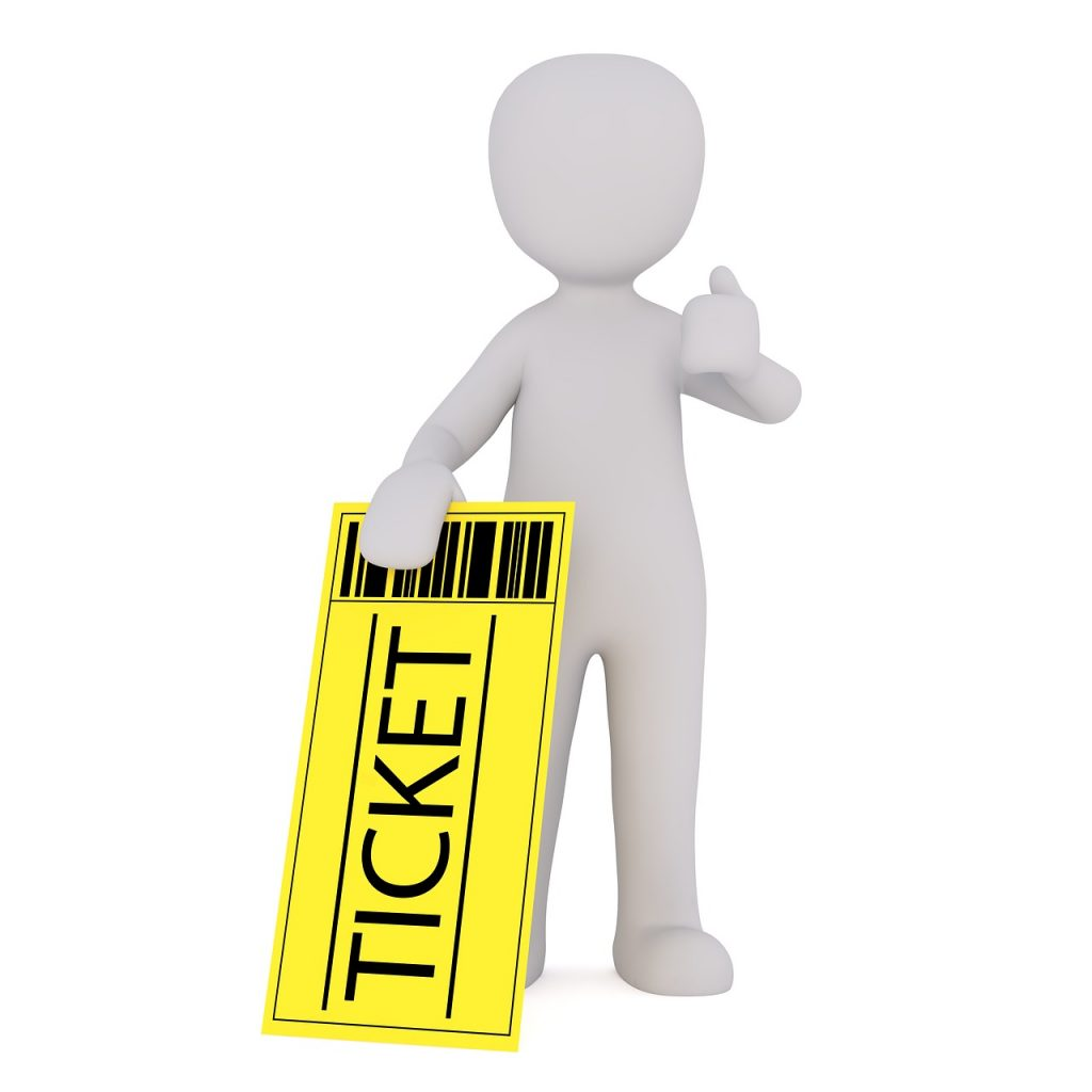 vlucht ticket
