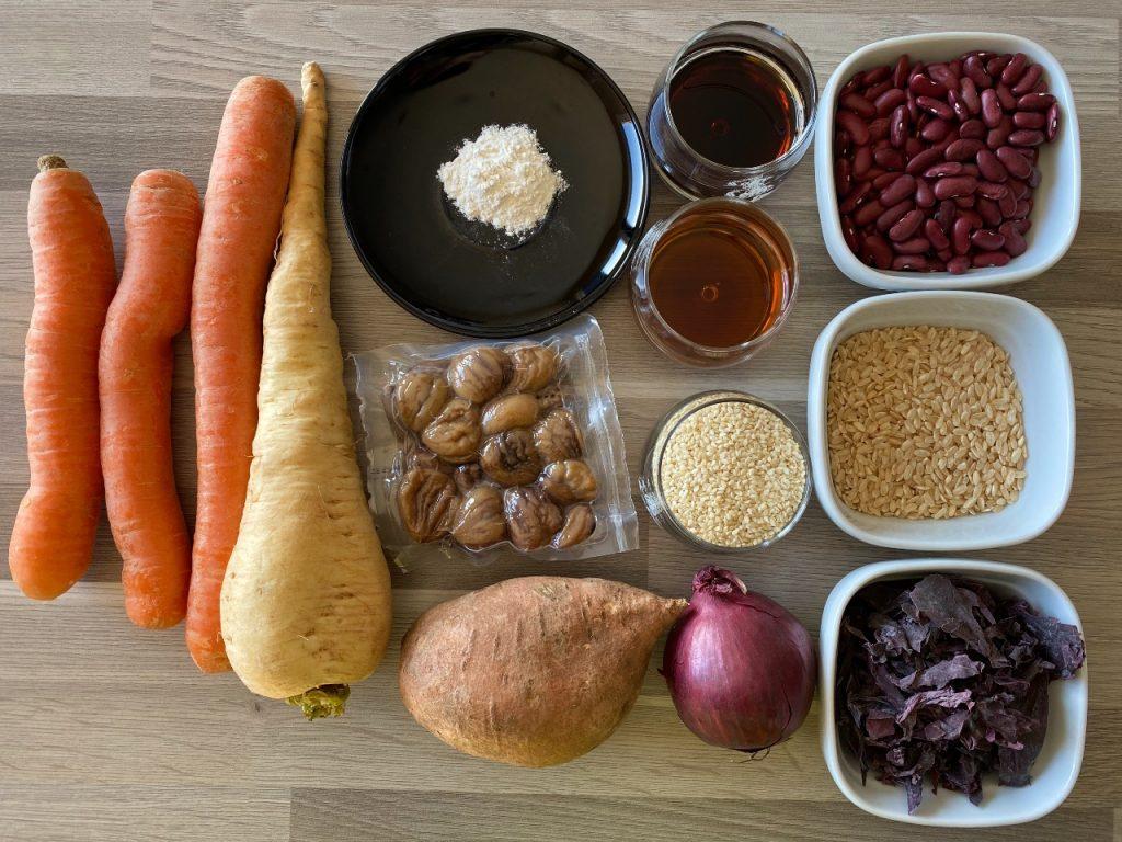 bonenstoofpot met zoete groenten ingrediënten