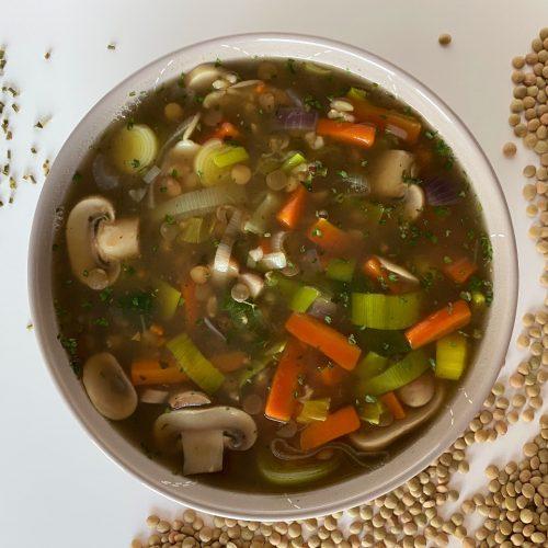 groentesoep met linzen