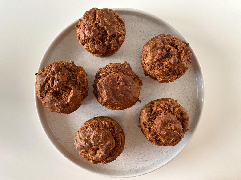 vegan worteltaart muffins natuur