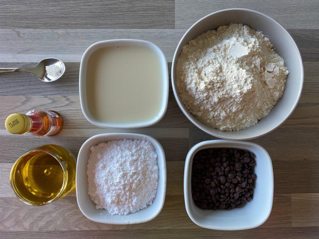 plantaardige chocolate chip muffins ingrediënten