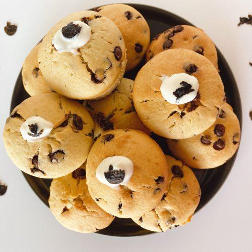 plantaardige chocolate chip muffins vegan