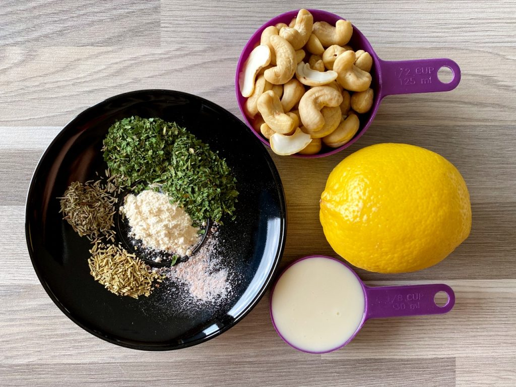 vegan boursin van cashewnoten ingrediënten