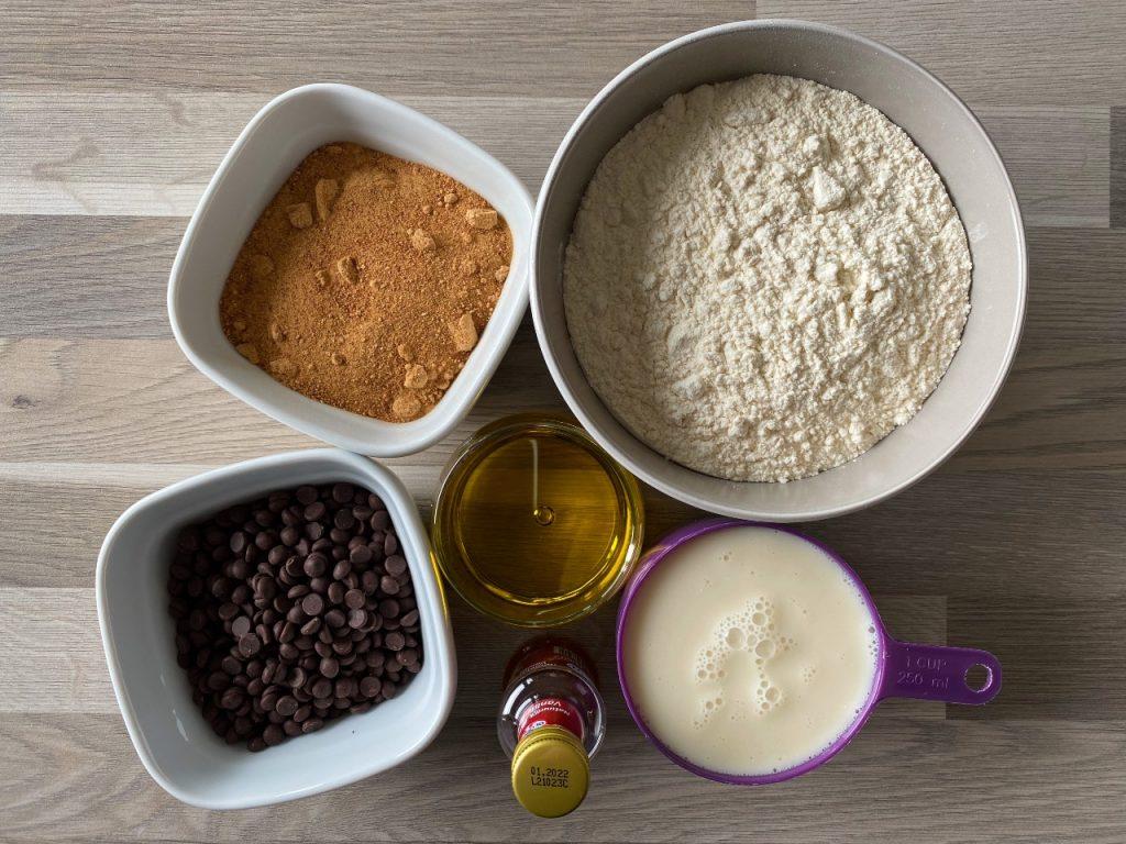 vegan cake met chocolade ingrediënten