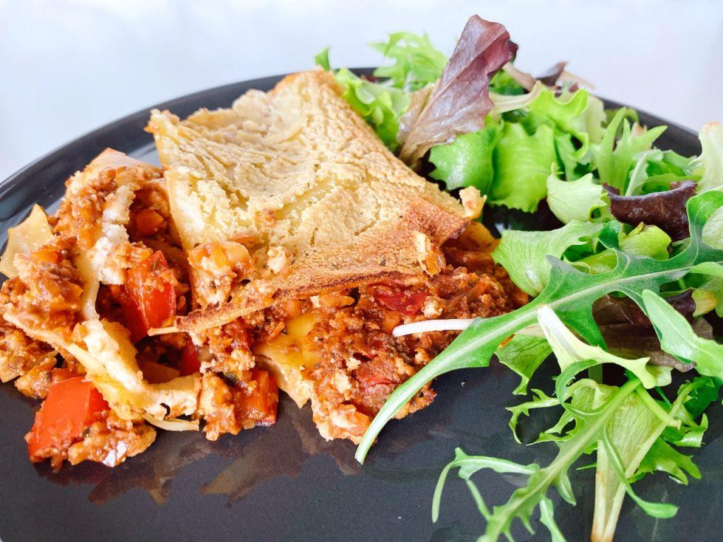 veganistische lasagne bolognese
