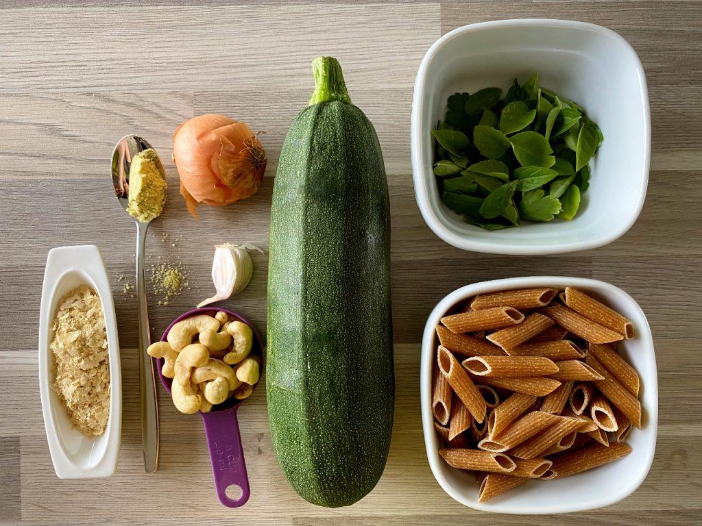 pasta met vegan courgettesaus ingrediënten