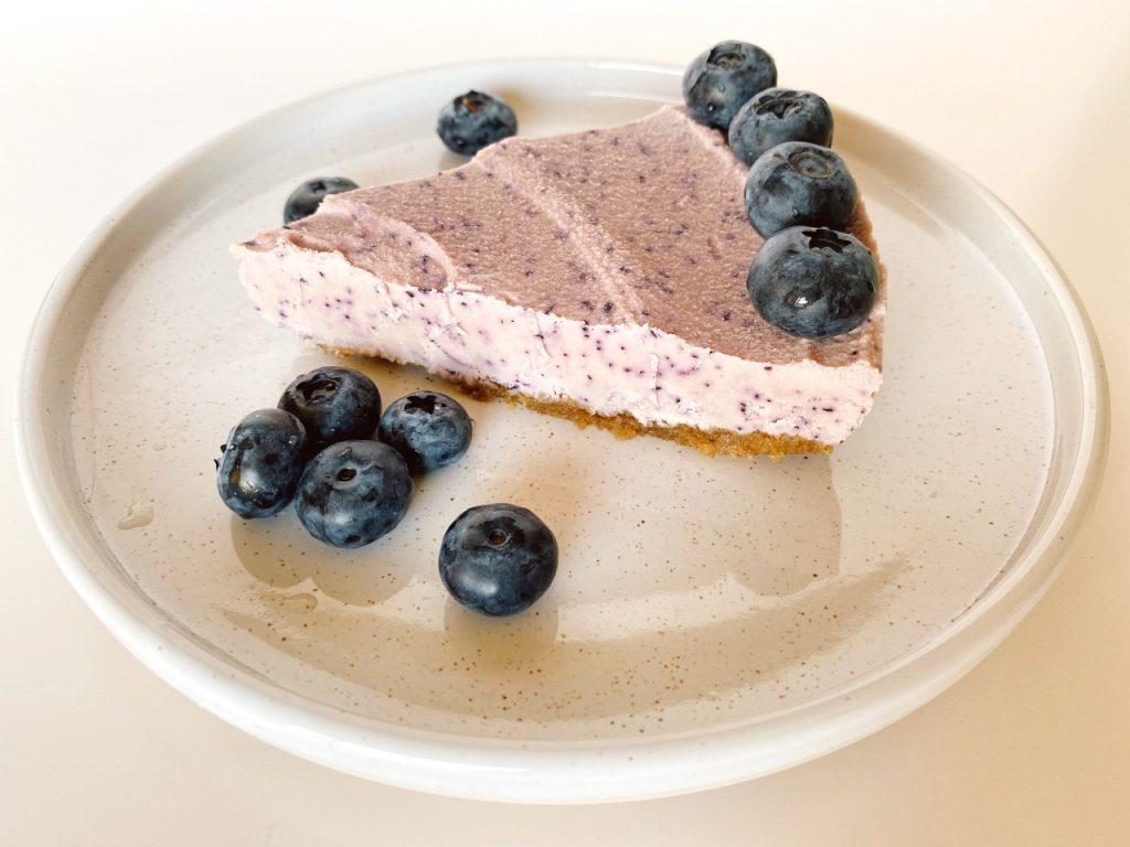 vegan blauwe bessen cheesecake gezond