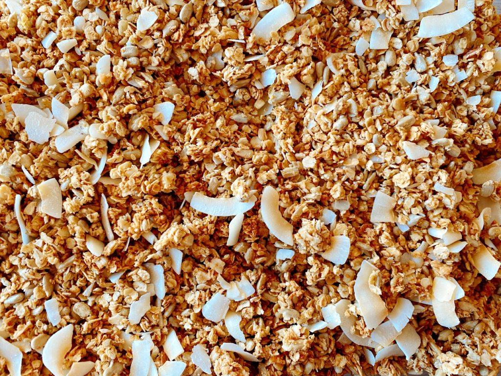 vegan granola met kokos