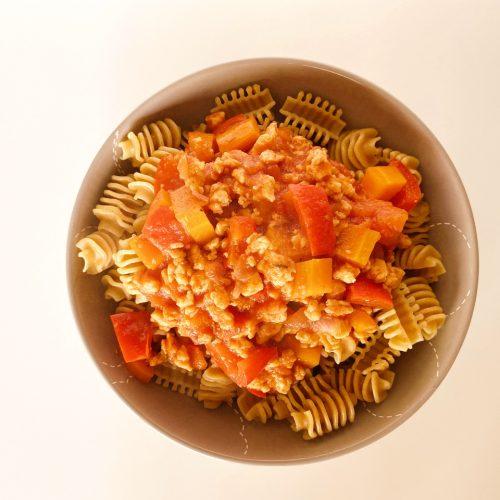 bolognesesaus met sojabrokken vegan recept