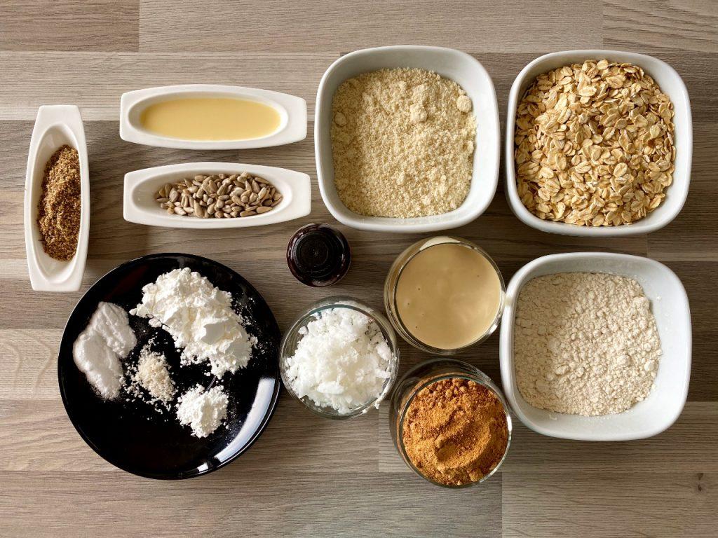 vegan amandelkoekjes met havermout ingrediënten