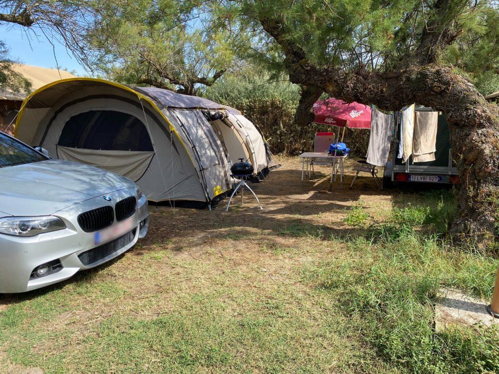 Camping Le Clos du Rhône staanplaats tent