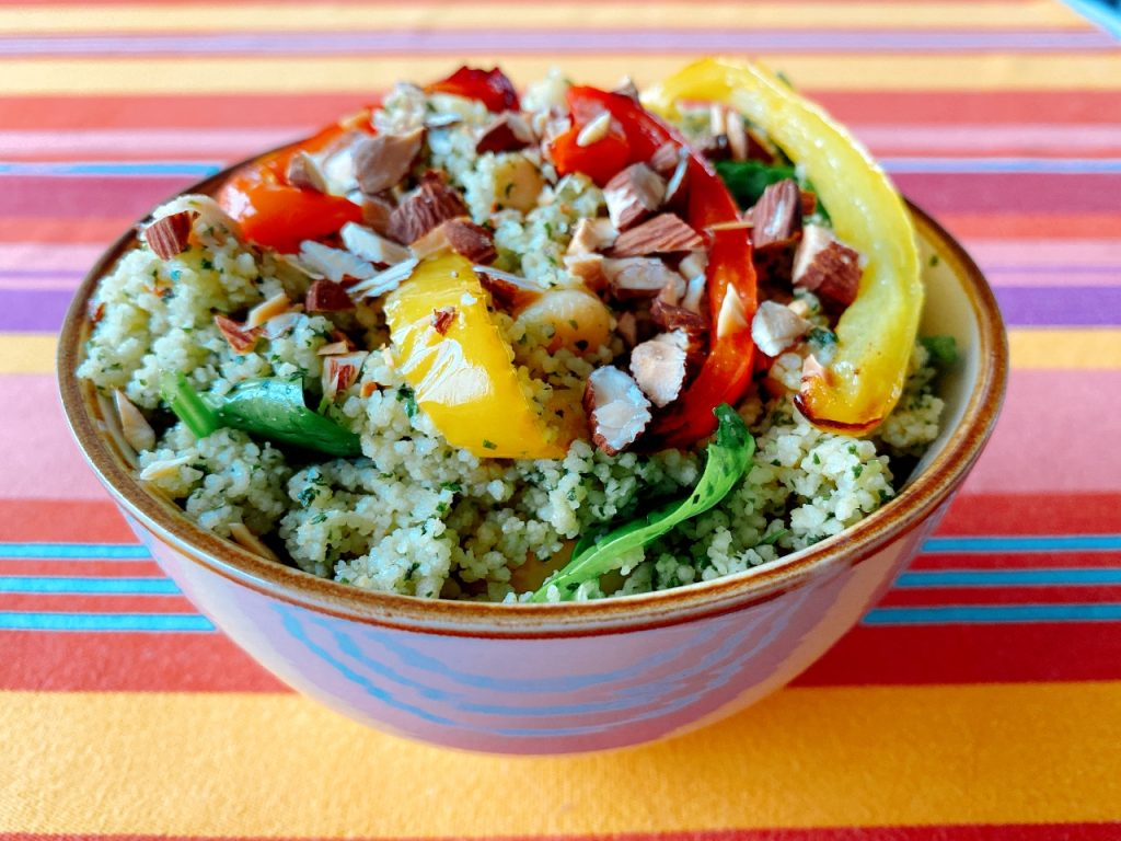 Couscous met kruidenpasta recept