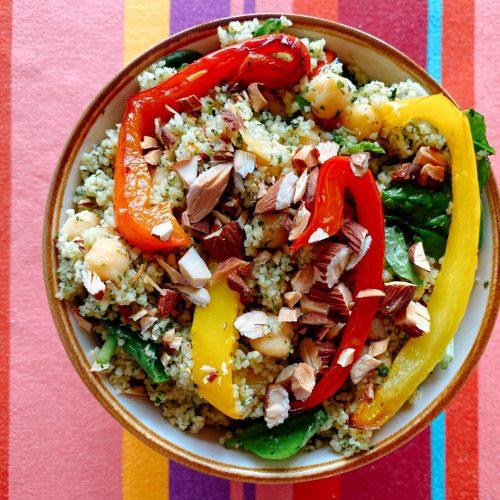 Couscous met verse kruiden en paprika