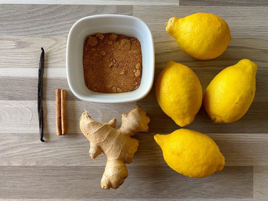 citroenlimonade met gember zonder suiker ingrediënten