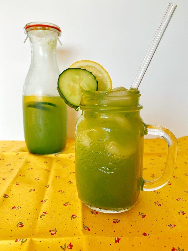 citroenwater met komkommer en munt verfrissende drank
