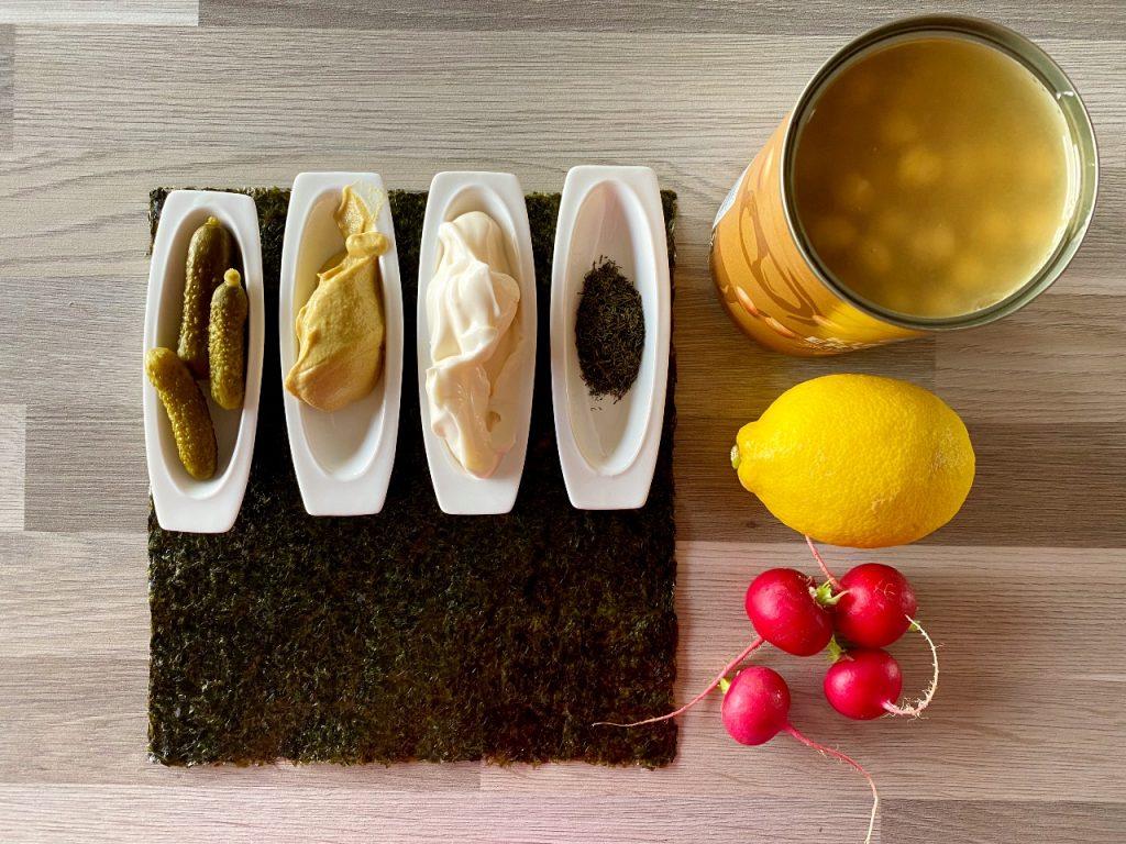 snelle vegan tonijnsalade kikkererwtenspread ingrediënten