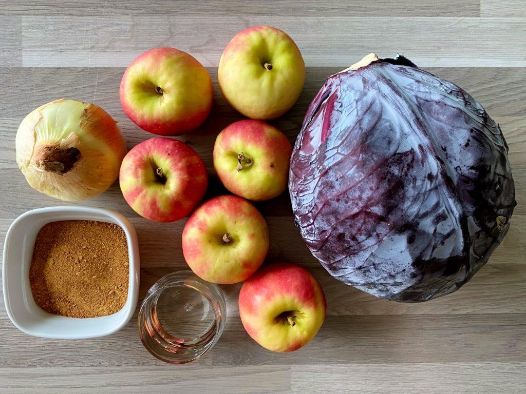 rode kool met appel zonder suiker ingrediënten