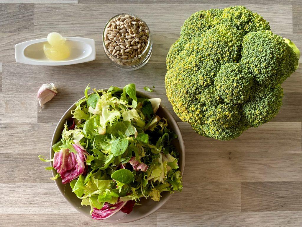 vegan pesto met broccoli ingrediënten