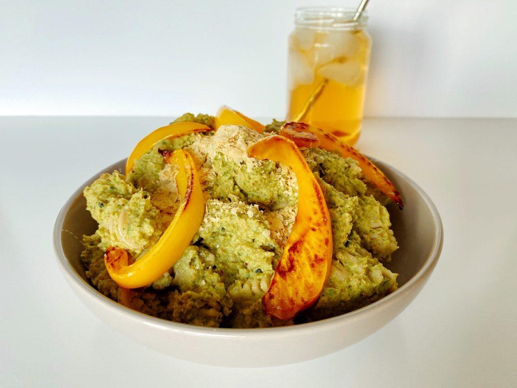 vegan pesto met broccoli pasta