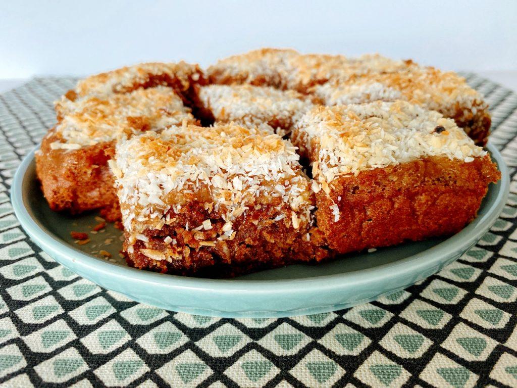 zachte vegan brownies met karamel