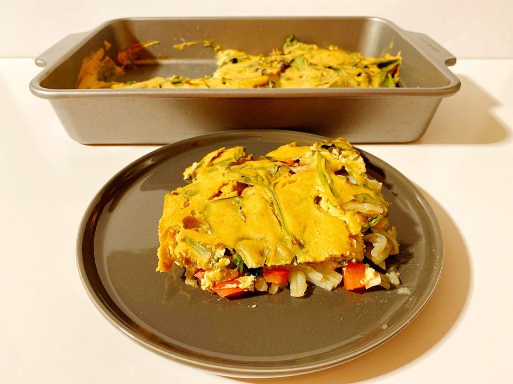 vegan tortilla uit de oven zijden tofu